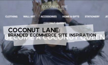 Coconut Lane: Branded Ecommerce Site Inspiration