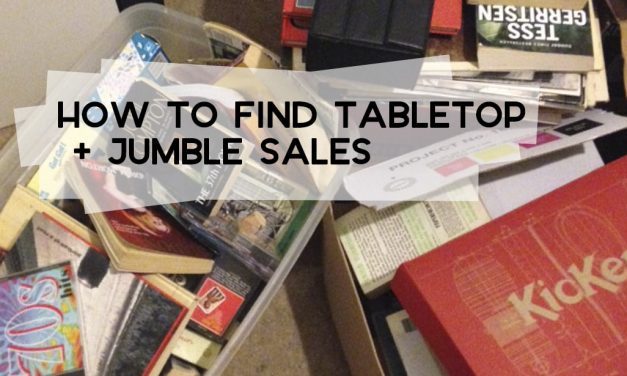 How to Find Jumble Sales + Tabletop Sales