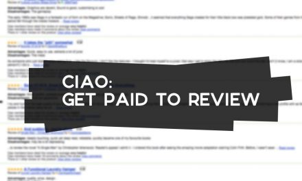 Ciao: Get Paid to Review