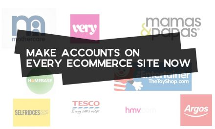 Make Accounts on Every Ecommerce Site Now