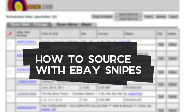 How to Source with eBay Snipes