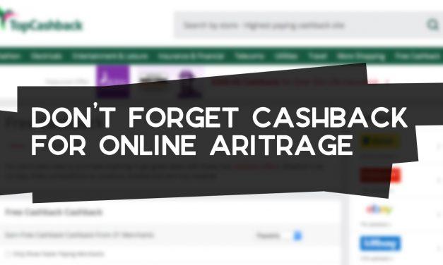 Don't Forget Cashback for Online Arbitrage