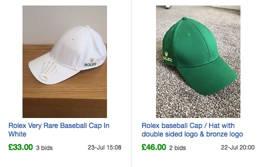 Rolex Baseball Cap eBay Sold Listings - Probably Busy