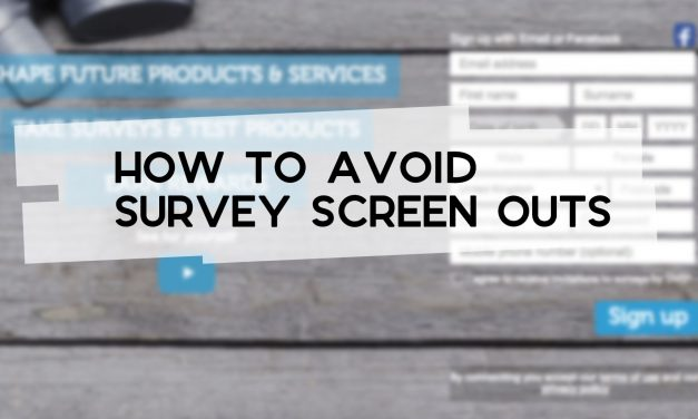 How to Avoid Survey Screen Outs