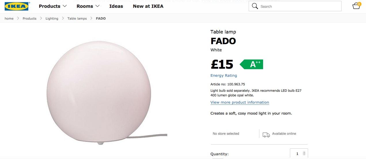 Ikea FADO White Light - Probably Busy