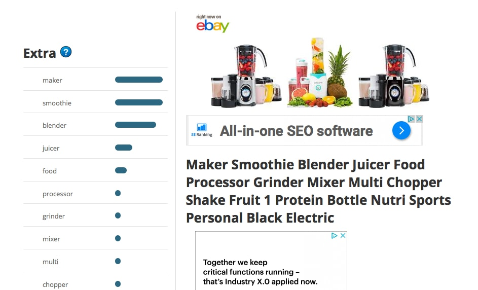 eBay Title Builder - Smoothie Maker- Probably Busy
