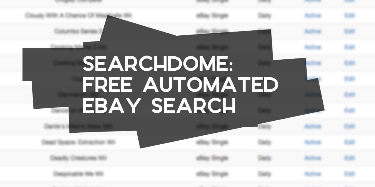 SearchDome: Free eBay Sourcing Software