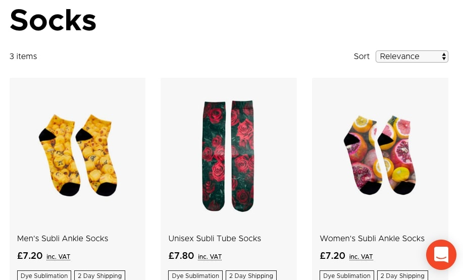 Inkthreadable Print on Demand Sock Options - Probably Busy