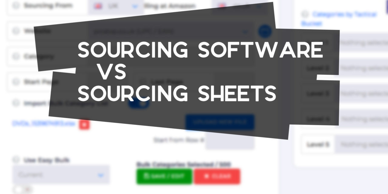 Online Arbitrage Sourcing Sheets vs Software