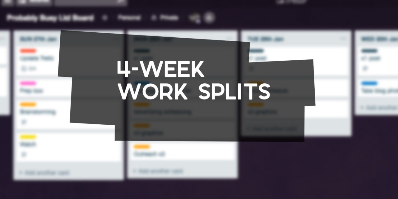 4-Week Work Splits