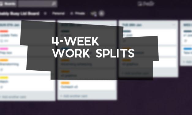 4-Week Work Splits