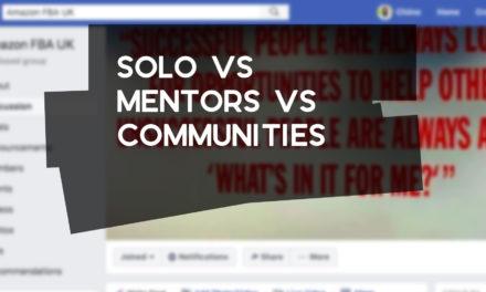 Solo vs Mentors vs Communities